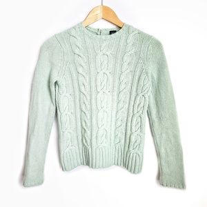 Gap Mint Green Cable Knit Sweater Small